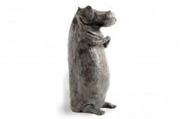 Hippo  Sculpture bronze 35cm