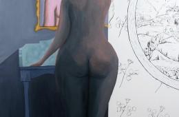La coiffeuse  Huile sur toile 180X120cm