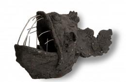 Poisson 1 Sculpture en grès 25cm