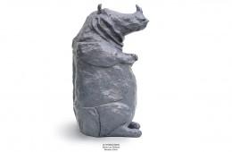 Le rhinoceros Série Les Prêtre Sculpture bronze 29cm