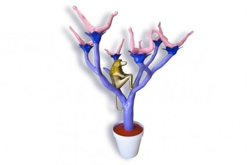Carrousel Princier Sculpture résine polyester 196cm X145cm X145cm