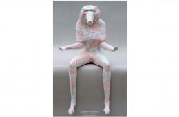 L'oraison du babouin Sculpture résine polyester 97cmX55cmX40cm