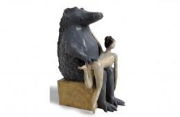 La fessée Sculpture bronze 32cmX20cmX23cm
